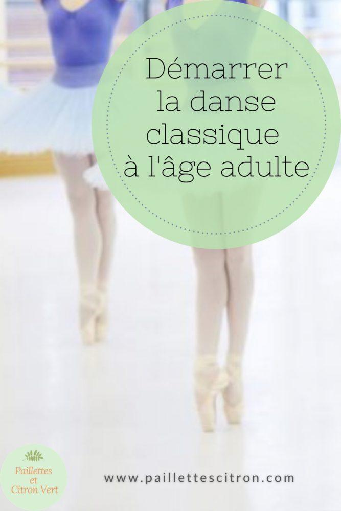 Débuter danse classique adulte