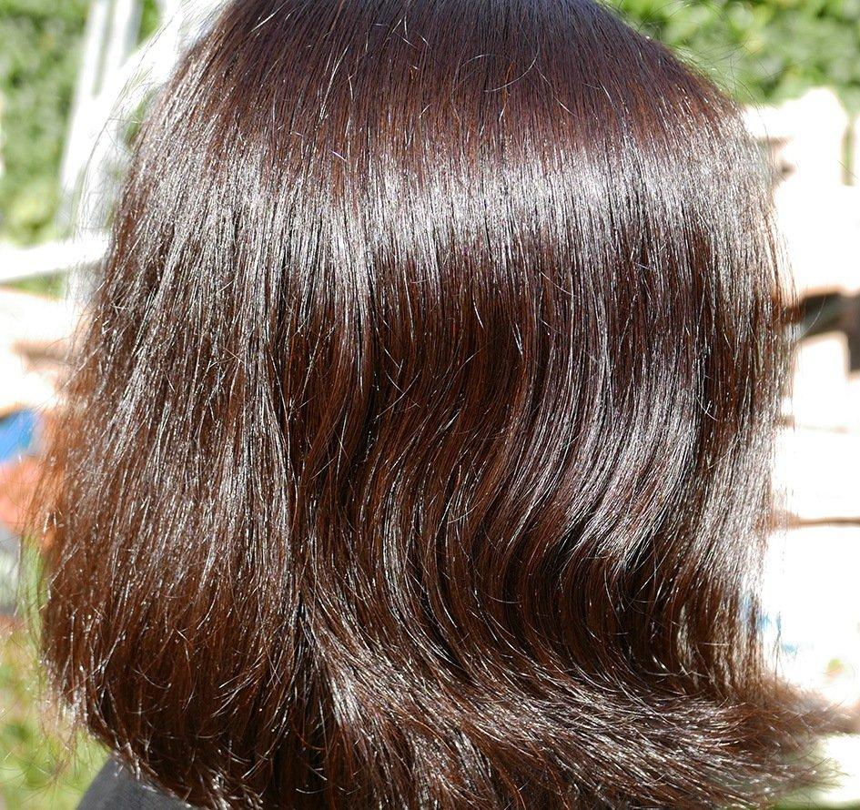 Mes cheveux après ma teinture au henné