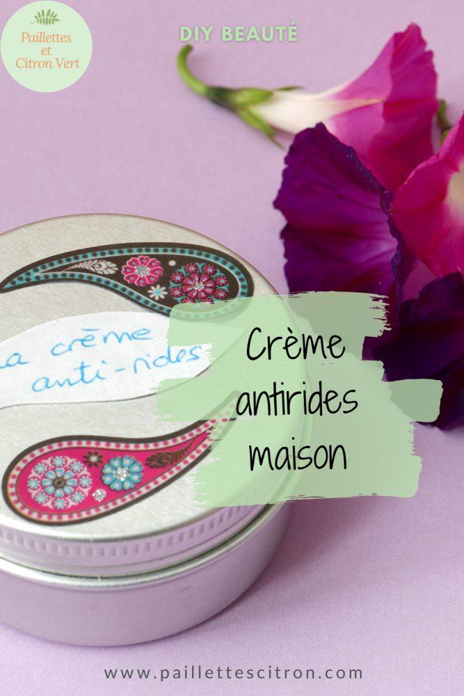 crème antirides maison