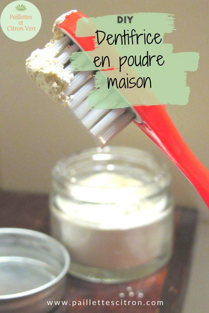 Dentifrice maison en poudre