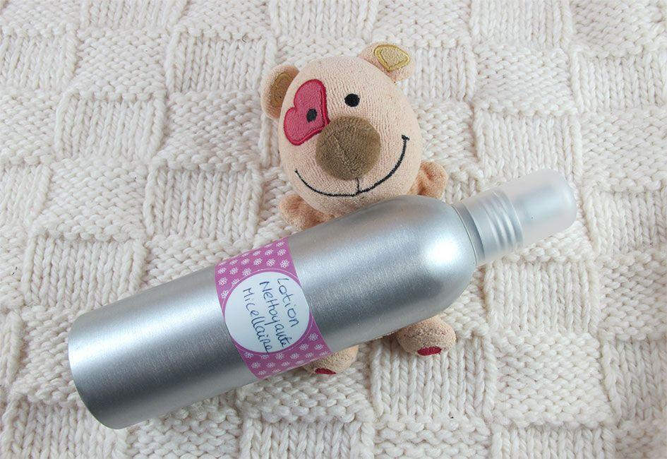Lotion nettoyante micellaire pour bébé
