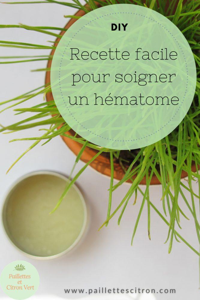 Recette facile pour soigner un hématome