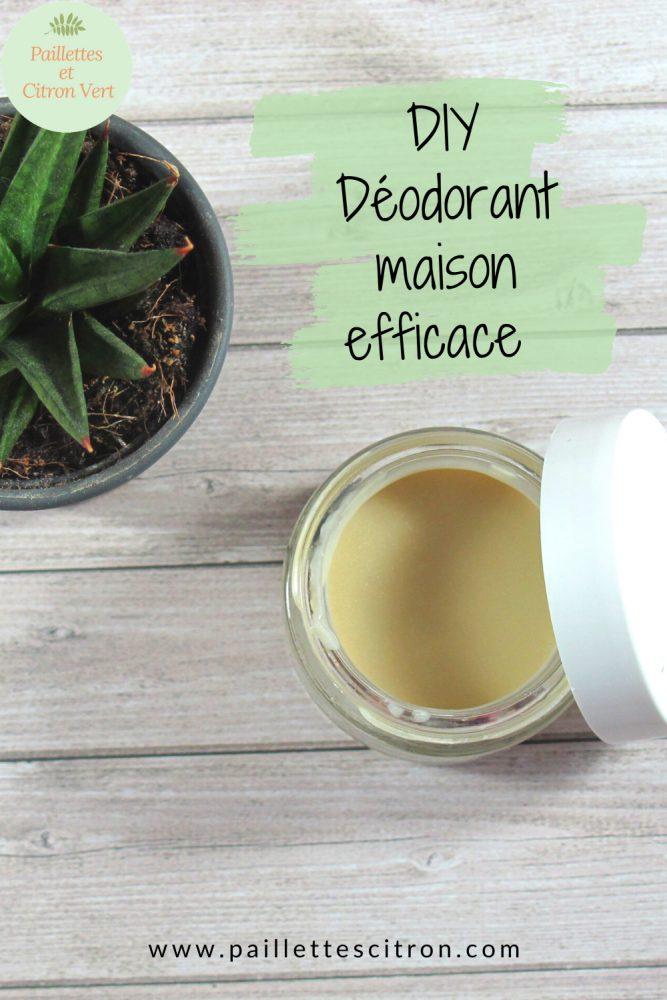DIY déodorant maison efficace