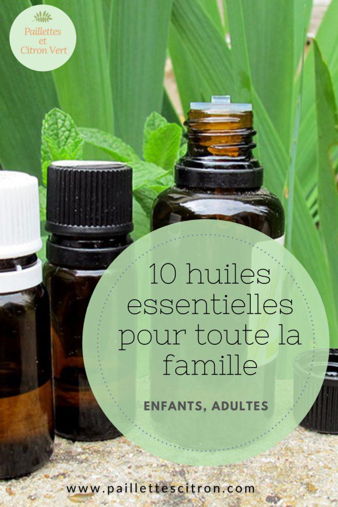 10 huiles essentielles famille enfants