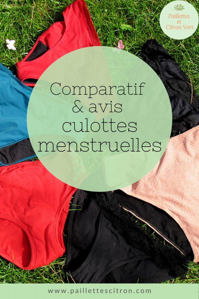 Comparatif culottes menstruelles