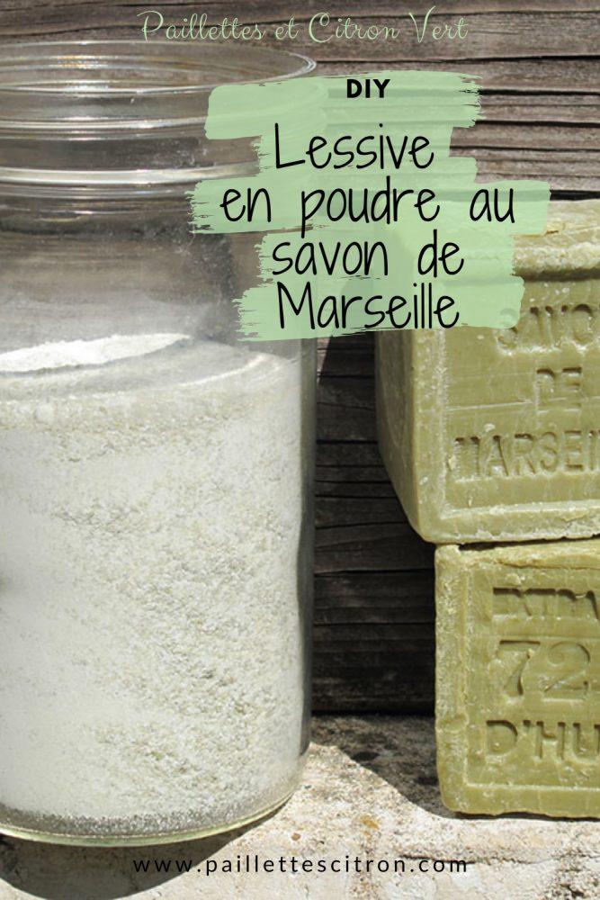 DIY Lessive en poudre au savon de Marseille