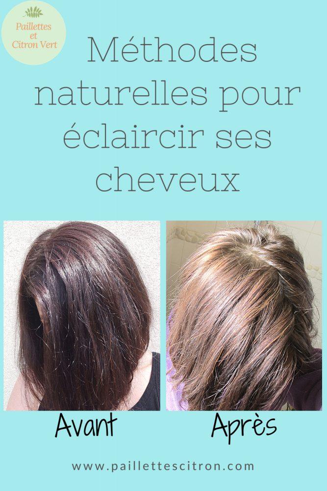 Méthodes naturelles pour éclaircir cheveux