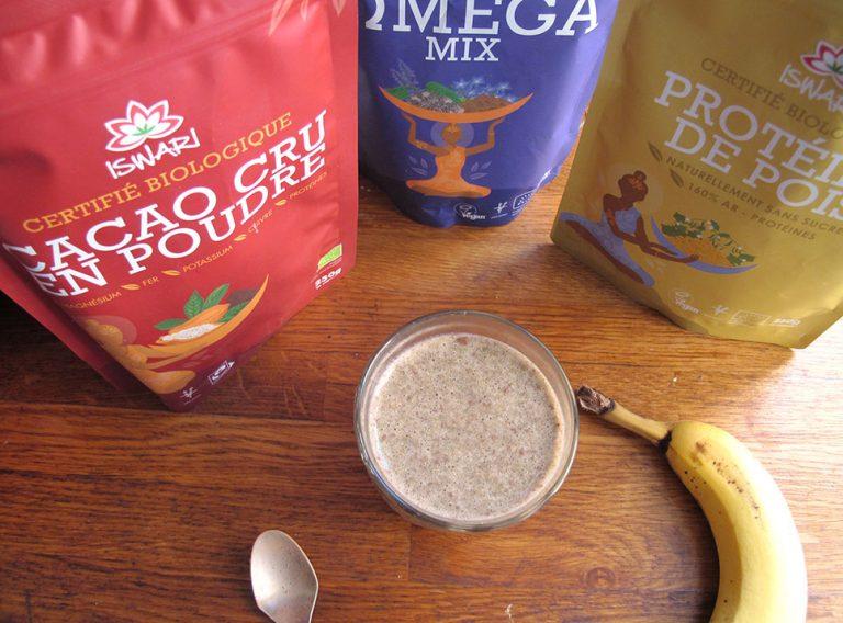 Milk-shake vegan protéiné