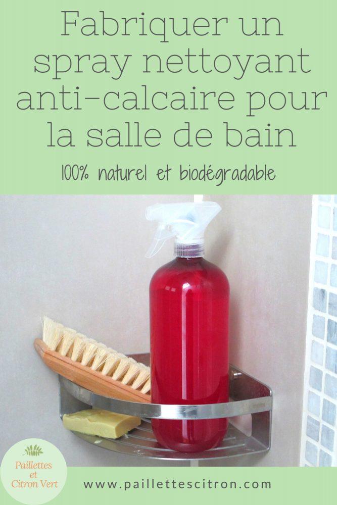 DIY Spray anti-calcaire