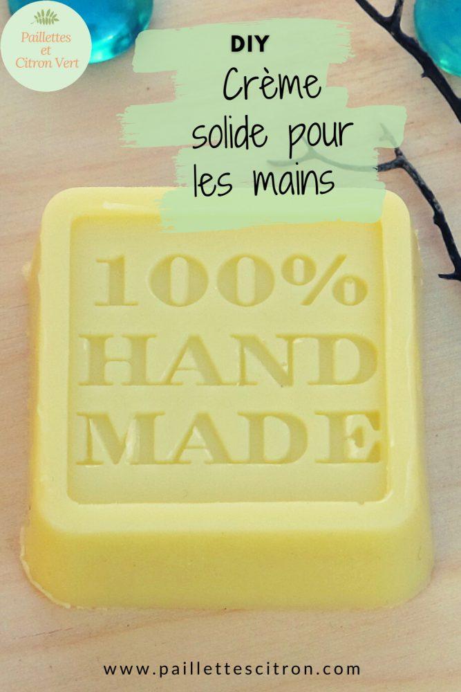 Crème solide mains diy
