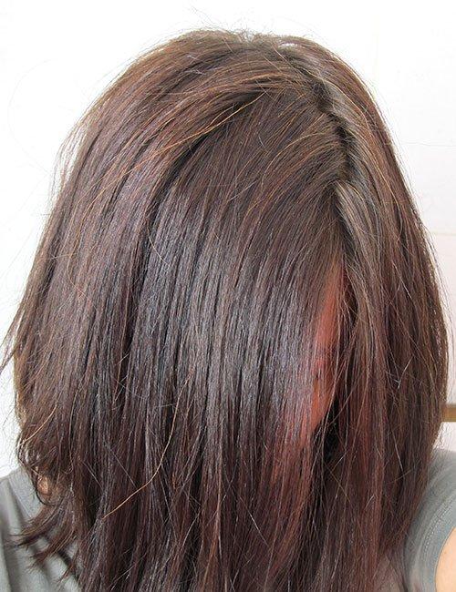Coloration éclaircissante - après