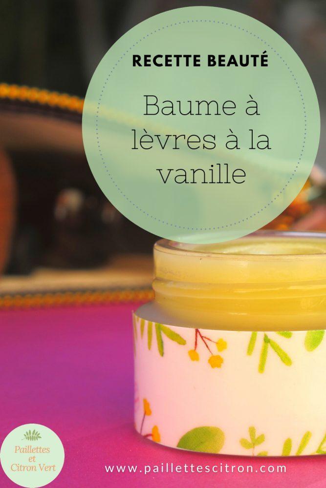 Baume à lèvres à la vanille