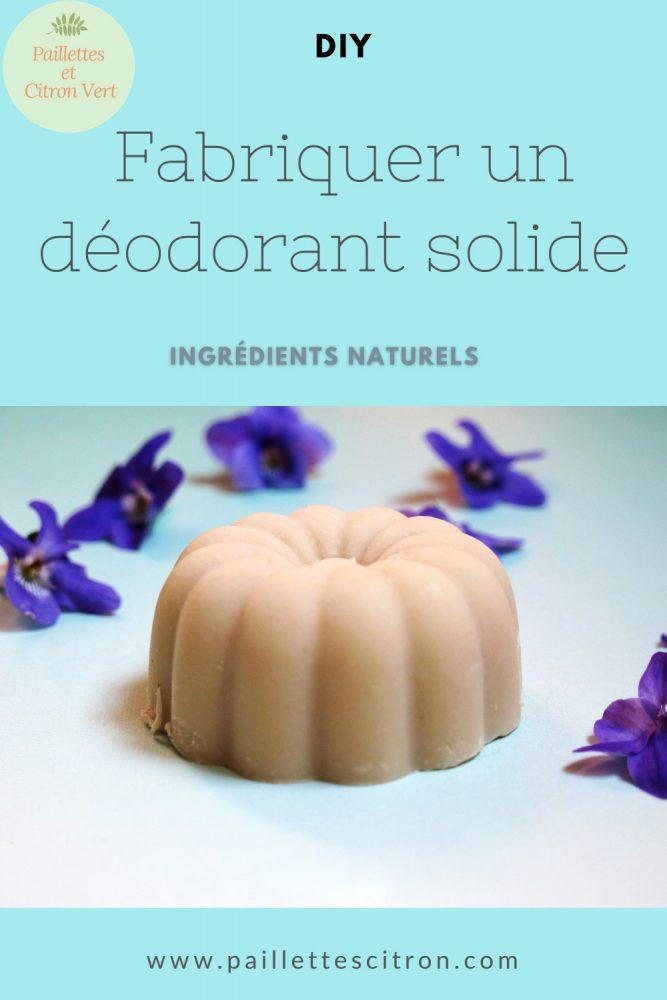 Fabriquer un déodorant solide